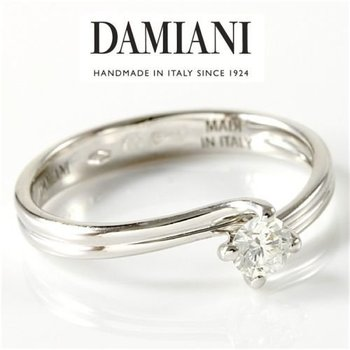 Estate Authentic Damiani Solid 18k White Gold Diamond Engagement Ring sz 6 1/4