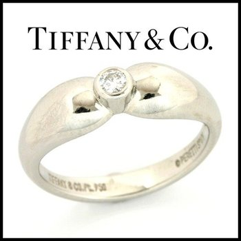 Estate Authentic Tiffany & Co. Peretti Spain Platinum, 0.10 ct Diamond Ring sz 5