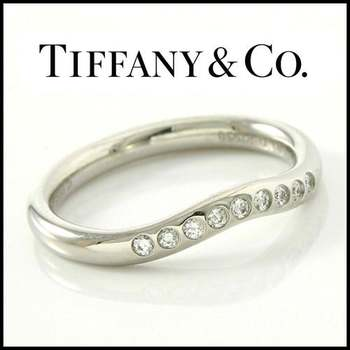 Estate Authentic Tiffany & Co. Platinum Diamond Band Ring sz 3.25