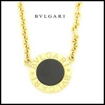 Estate  BVLGARI 18k Yellow Gold with Black Onyx Necklace