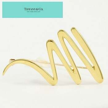 Estate Tiffany & Co. 18K Yellow Gold Paloma Picasso Scribble Pin Brooch