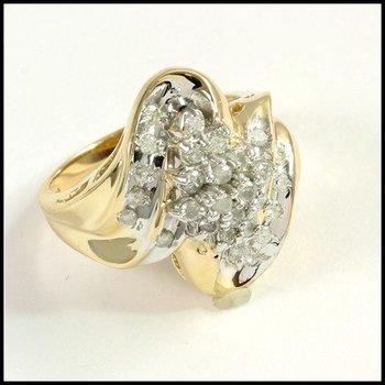 Genuine 0.40ctw Diamond 10k Yellow Gold Ring Size 6.5