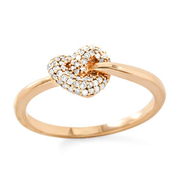 Solid 10k Rose Gold, 0.17ctw Genuine Diamonds Ring size 7.25
