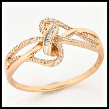 Solid 10k Rose Gold, 0.20ctw Genuine Diamonds Ring size 10 1/4