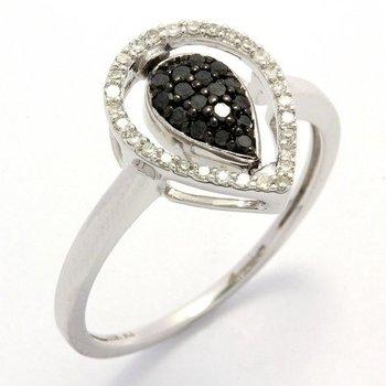Solid 10k White Gold, 0.25ctw Genuine Diamonds Reversible Ring sz 7