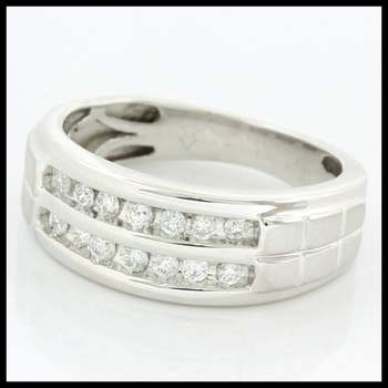 Solid 10k White Gold, 0.25ctw Genuine Diamonds Ring size 7