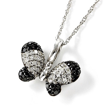 Solid 10k White Gold 0.45ctw Genuine Diamonds Necklace