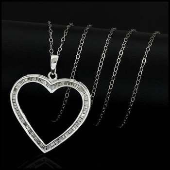 Solid 10k White Gold, 0.50ctw Genuine Diamond Necklace