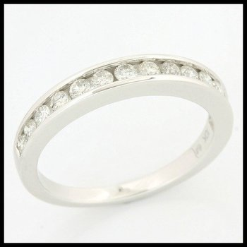 Solid 10k White Gold, 0.50ctw Genuine Diamonds Ring size 6 3/4