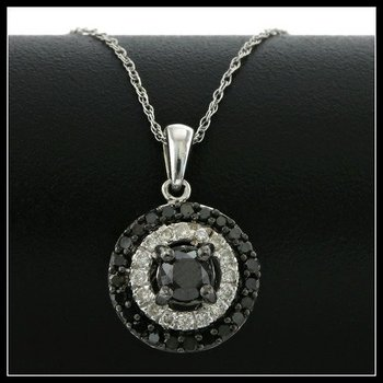 Necklaces pendants property room solid 10k white gold 075ctw genuine black white diamonds necklace mozeypictures Gallery