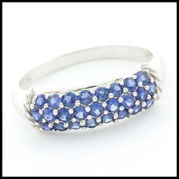 Solid 10k White Gold 1.25ctw Sapphire Ring Size 6
