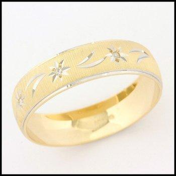 Solid 10k Yellow Gold, 0.015ctw Genuine Diamond Wedding Band Mens Ring sz 11