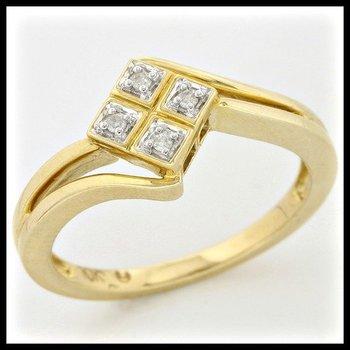 Solid 10k Yellow Gold, 0.04ctw Genuine Diamonds Ring sz 7