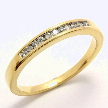 Solid 10k Yellow Gold, 0.12ctw Genuine Diamonds Ring sz 7