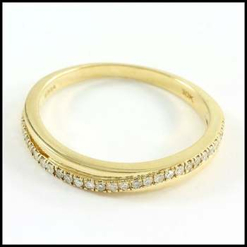 Solid 10k Yellow Gold, 0.15ctw Genuine Diamond Ring Size 7