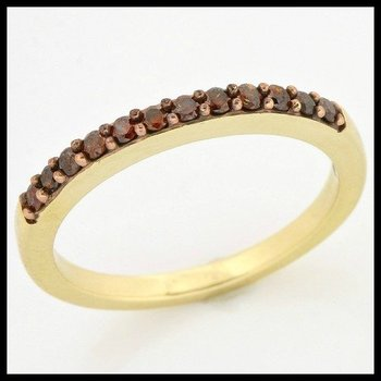 Solid 10k Yellow Gold, 0.24ctw Genuine Diamonds Ring size 6 3/4