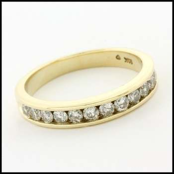 Solid 10k Yellow Gold, 0.50ctw Genuine Diamond Ring Size 5.5