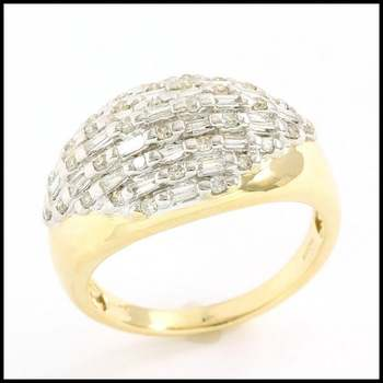 Solid 10k Yellow Gold, 0.50ctw Genuine Diamond Ring sz 6.25