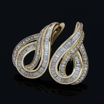 Solid 10k Yellow Gold, 0.75ctw Genuine Diamond Earrings