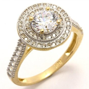 Solid 10k Yellow Gold 1.25ctw AAA Grade Russian CZ Engagement Ring Size 6.5