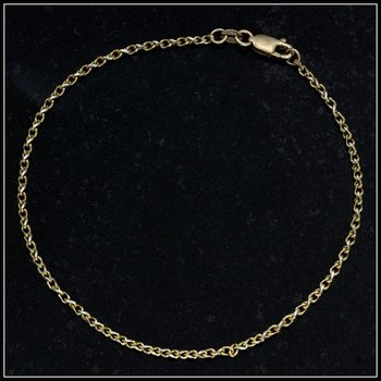 Solid 10k Yellow Gold Anker Bracelet
