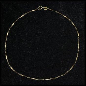 Solid 10k Yellow Gold Anklet Bracelet