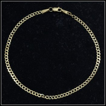 Solid 10k Yellow Gold Cuban Link Bracelet