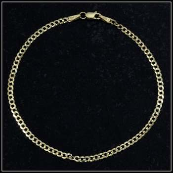 Solid 10k Yellow Gold Cuban Link Bracelet