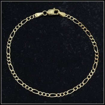 Solid 10k Yellow Gold Figarucci Bracelet