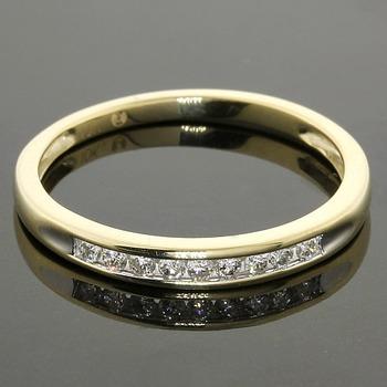Solid 10k Yellow Gold Genuine 0.21ctw Diamond Unisex Ring Size 9.5