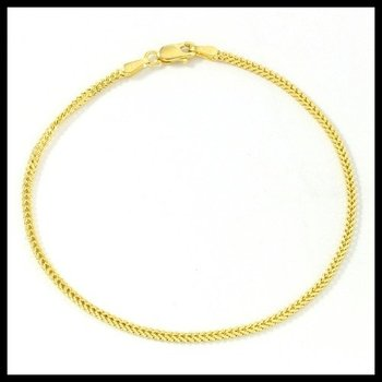 """Solid 10k Yellow Gold, Spiga Chain 7"""" Inches Bracelet"""