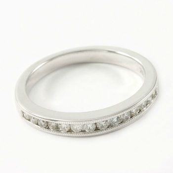 Solid 14k White Gold, 0.15ctw Genuine Diamond Ring Size 5.75