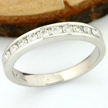 Solid 14k White Gold, 0.20ctw Genuine Diamonds Ring sz 4.5