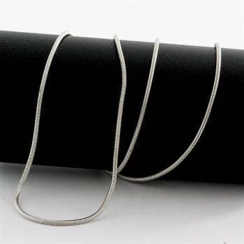 """Solid 14k White Gold, 16"""" Inch Snake Chain"""