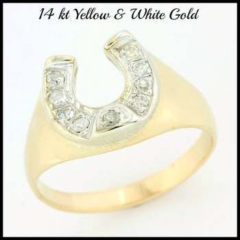 Solid 14k Yellow Gold, 0.10ctw Genuine Diamond Ring Size 7