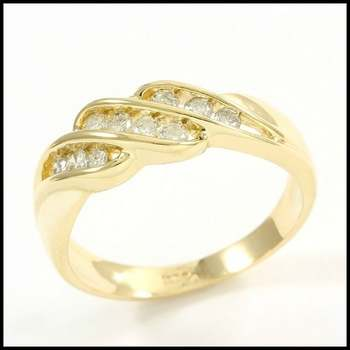 Solid 14k Yellow Gold, 0.40ctw Genuine Diamond Ring Size 6.5