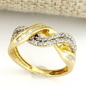 Solid 14k Yellow Gold, 0.50ctw Genuine Diamonds Ring sz 8.5