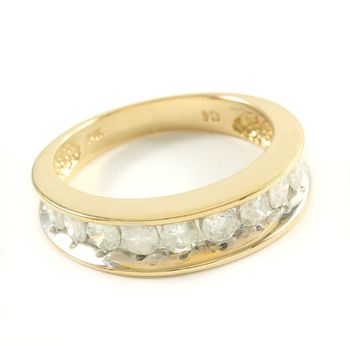 Solid 14k Yellow Gold, 1.00ctw Genuine Diamond Ring Size 5.25