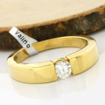 Solid 18k Yellow Gold, 0.30ctw Genuine Diamond Ring Size 7.75