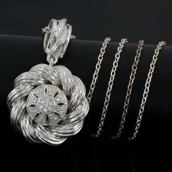 Solid .925 Sterling Silver & White Gold Plated, 0.31ctw AAA Grade CZ's Necklace