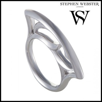 Stephen Webster Thorn Women's Silver Stacking Ring Size 7.25
