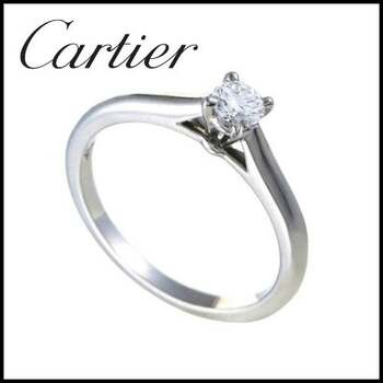 Vintage Cartier 950 Platinum 0.19ct Diamond Womans Ring - Size 5.5