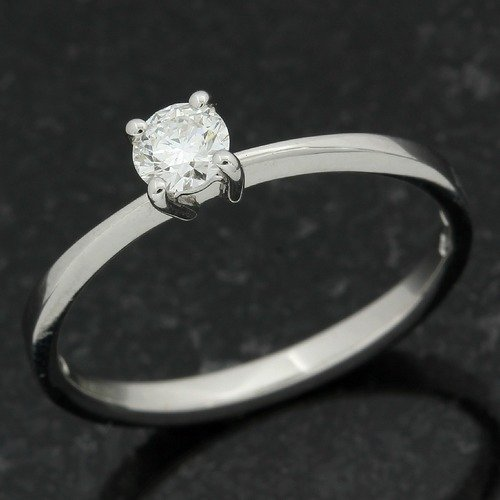 6c1b2bf594232 Authentic DAMIANI 18k White Gold 0.25ct G-VS1 Diamond Solitare ...