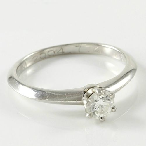 fe0f0371f Estate Authentic Tiffany & Co. Platinum Diamond Engagement Ring sz 5 (TF014)