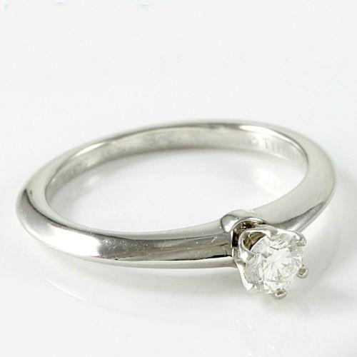 56c7ec198 Estate Authentic Tiffany & Co. Platinum Diamond Solitaire Engagement Ring  sz 4.5