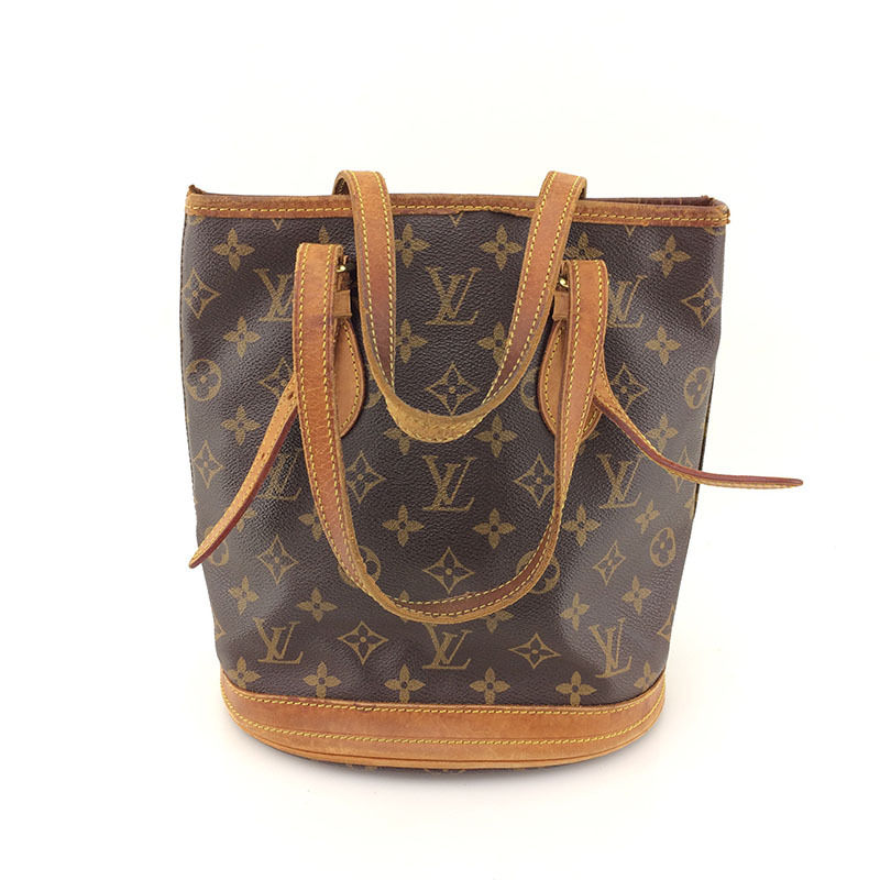 f534a15d8f AUTH Vintage Louis Vuitton Monogram Canvas Bucket PM M42238 Shoulder Tote  Bag