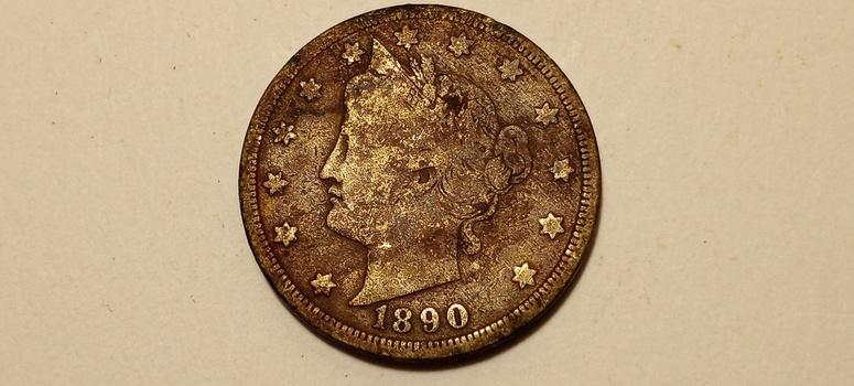 1890 Liberty V Nickel