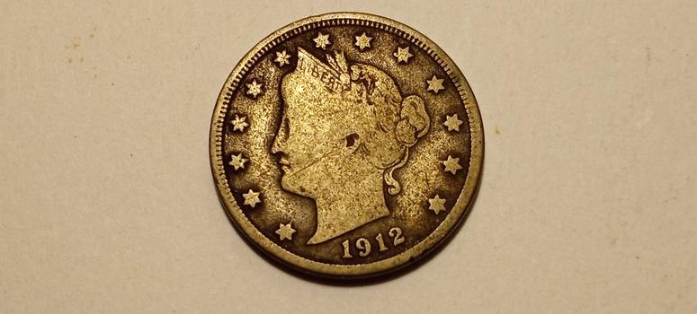 1912 D Liberty V Nickel High Grade