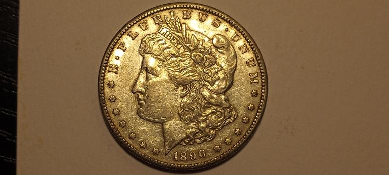1890 S Morgan Silver Dollar Extremely High Grade