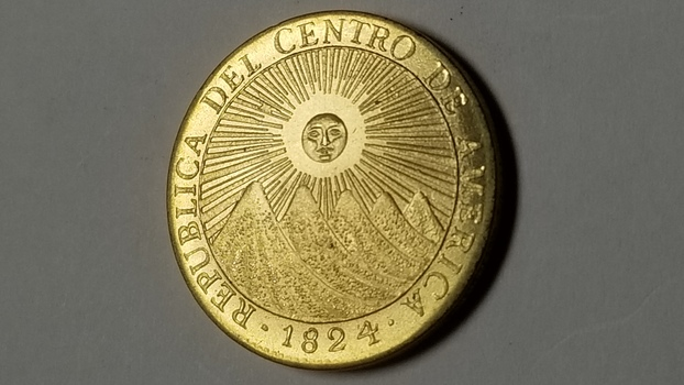 Fantasy Pattern 1824 Republic of Central America Gold Plated
